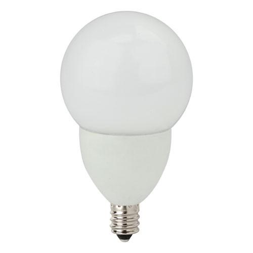 TCP - 5 Watt - Dimmable LED - Decorative Globe - Frosted G16 Size - 2700K - Warm White - 300 Lumens - 40 Watt Equal - Candelabra E12 Base - 120 Volt