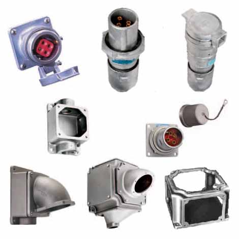 Heavy Duty Circuit Breaking Receptacles, Plugs, Connectors