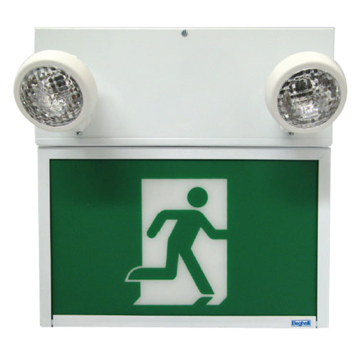 Running Man Sign with Emergency Light