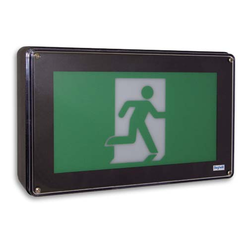 Wet Location & Vandal Resistant Running Man Sign