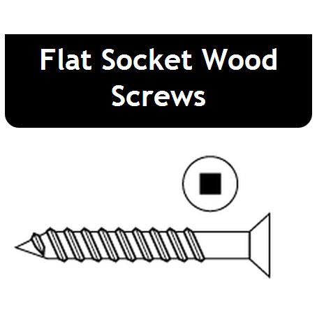 Flat Socket Wood Screws