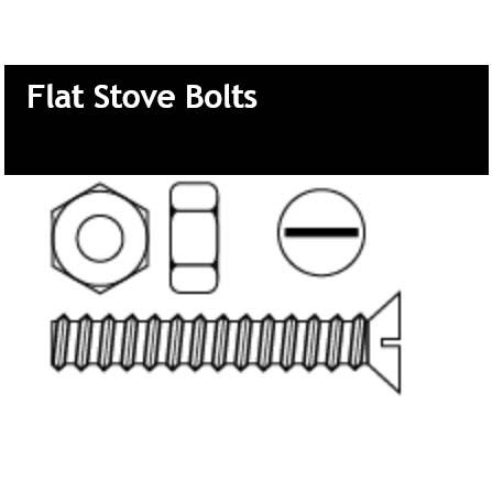 Flat Stove Bolts