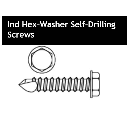 Ind Hex-Washer Self-Drilling Screws