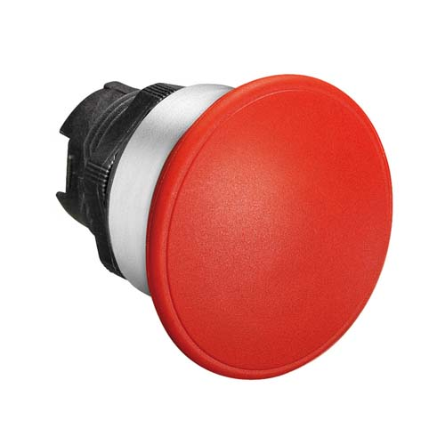 Mushroom head push button actuators