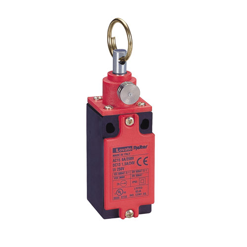 Rope-pull lever limit switches for emergency stopping, ISO 13850 compliant