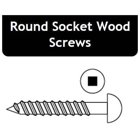 Round Socket Wood Screws