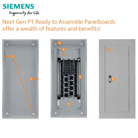 Siemens Revised P1 Ready to Assemble Panelboards