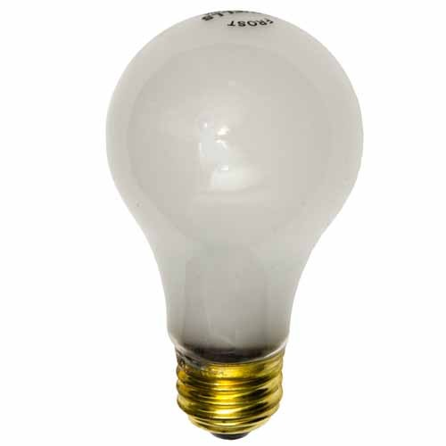 Shat-r-Shield 01284AT 100W A19 Inside Frost Medium Base 120V Shatter-Resistant Incandescent Bulb - 20,000 Hrs Life - 120 PACK