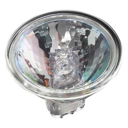Ushio 1001123 - 50 Watt - MR16 - Eurostar - 24 Degree Narrow Flood - Front Glass Cover - 4000 Life Hours - 24 Volt - 2950K - 50 Packs