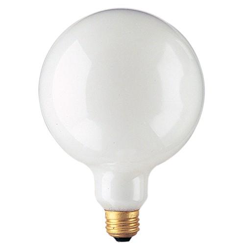 Bulbrite 350100 - 100W G40 White - 5 Inch Diameter - Medium E26 Base - 100G40WH