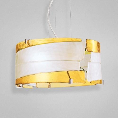 Eurofase 12616-015 - Fluid - 2 Light Pendant - Chrome - Amber - 120V - 100W - E26