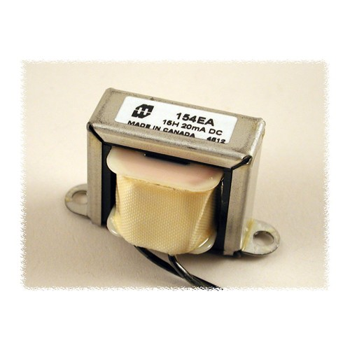 Hammond 154EA - Transformer - D.C. Reactor or Filter Choke - Low To Medium Current - 300 Volts - 20 ma. - 15H Inductance - 966 Ohms Resistance