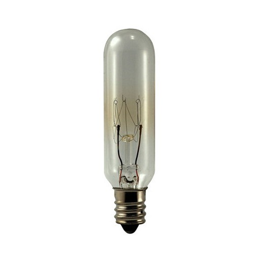 EiKO 15T6C-145V - Miniature Lamps - 145V - 0.1A - 15W - T6 - Candelabra Screw (E12) Base - C-7A Filament - Clear - 90 Lumens - 25 Packs