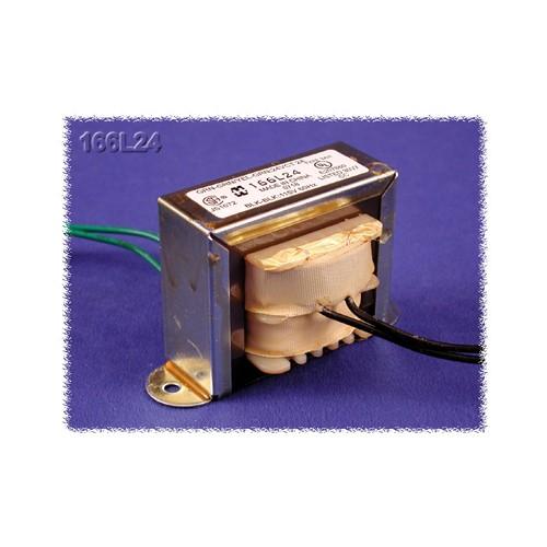 Hammond 166FB24 - Power Transformer - Low Voltage/Filament - Economical Single Primary - 117 VAC - 50/60 Hz. - 9.6VA - 0.4A Secondary Amps