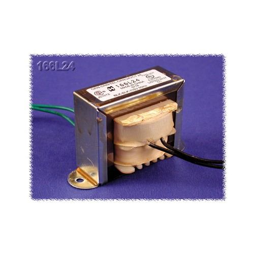 Hammond 166GD24B - Power Transformer - Low Voltage/Filament - Economical Single Primary - 117 VAC - 50/60 Hz. - 16.8VA - 0.7A Secondary Amps