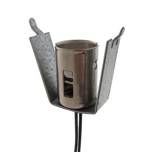 Etlin Daniels 22-82 - Candelabre Bayonet 22 - Candelabra Base - 500W - 125V - 2 Wire - Double Contact - Grounded mounting bracket and shell