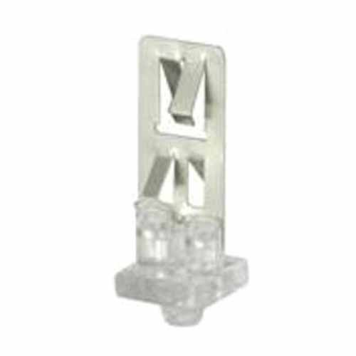 Leviton 23452-MTL - Lamp End Support Clip - for Use With Long Twin Tube Fluorescent With Horizontally Installed 2G11 Base - Clear