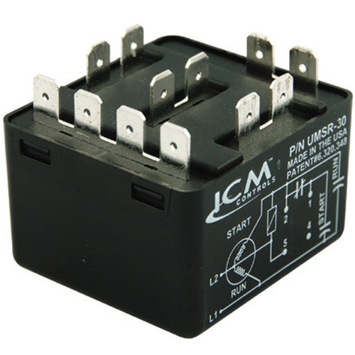 ALLTEMP 24-UMSR50 - Universal Motor Starting Relay - 110-270 VAC, Single Phase - Up to 10 HP