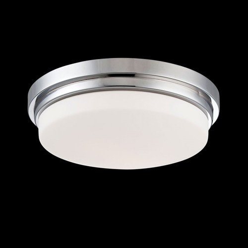 Eurofase 26635-033 - Wilson - 1 Light LED Flushmount - Chrome - Opal White Glass - 120V - 12W - LED - 1000 Lumens - 2700k