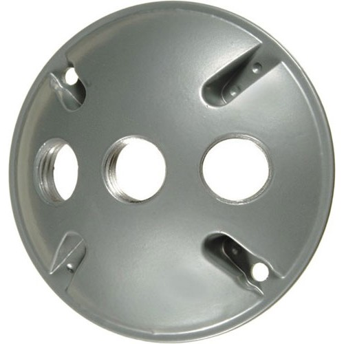 VISTA 28030 - Round 3-Hole Cover w/gasket - Black