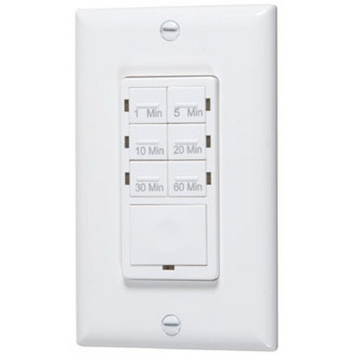 VISTA 40093- Preset Time Switch - 1/5/10/20/30/60 Min. Time Range - 1 1/4H.P, 120V, 800W, 6 on/off - White