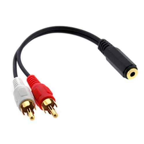 Audio Adaptor 3.5mm Female to 2 RCA Male
