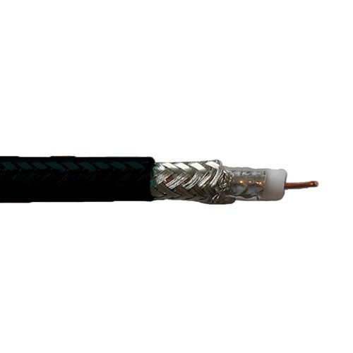 Coaxial Broadband - 18awg Solid Bare Copper - FT-4 - Black - 300 Meters
