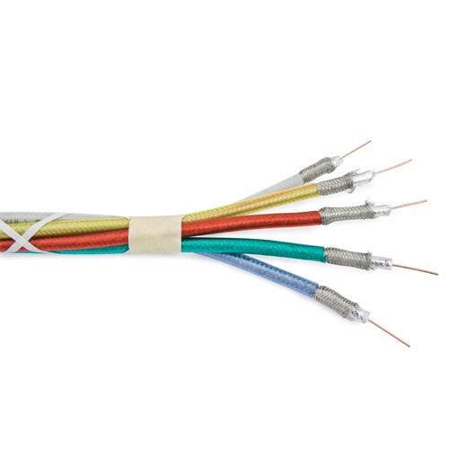 Mini Coaxial RGB Component - 3c 18awg Solid - FT-4 - Red/Green/Blue - 150 Meters