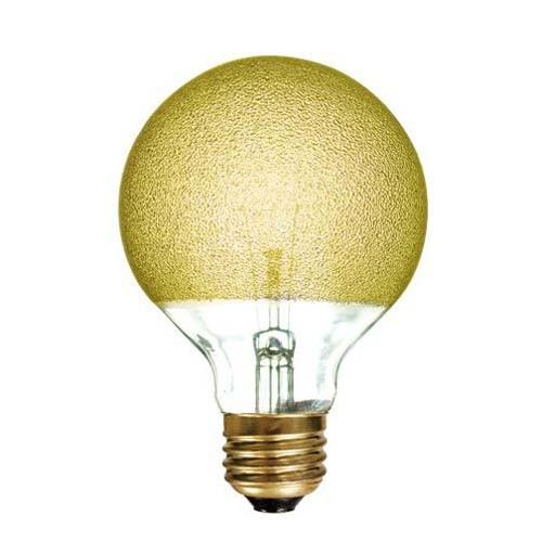 Bulbrite 144015 - 40W - Amber Ice - G25 - Medium E26 Base - 120V - Crystal Collection - 12 Packs