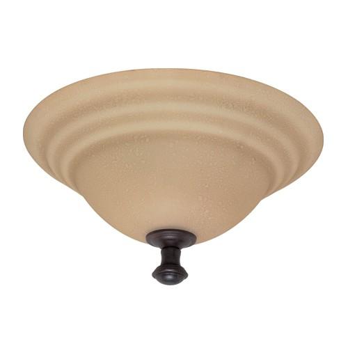 Satco 60-102 - 2-Light Flush Mount Dome Lighting Fixture - 60 Watt - A19 Bulb - Medium Base - Old Bronze Finish