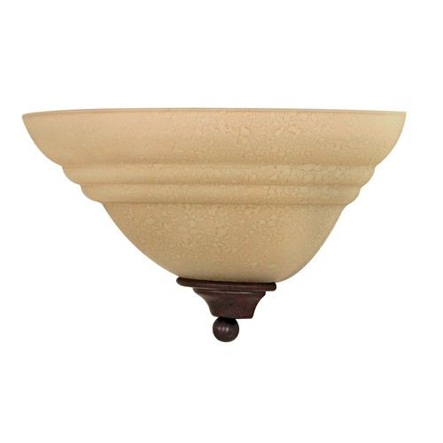 Satco 60-106 - 1-Light Wall Sconce Light Fixture - 60 Watts - A19 Bulb - Medium Base - Old Bronze Finish