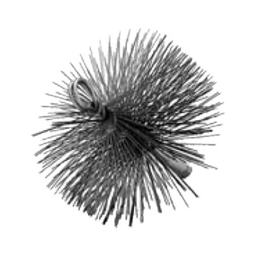 "ALLTEMP 61-30601 - Wire Chimney & Flue Brushes - 6"" Round - Brushes 3/8"" NPT"