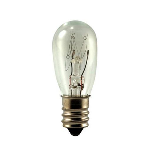 EiKO 6S6/130V - Miniature Lamps - 130 V - 6 W - 0.046A - S6 - Candelabra Screw (E12) Base - C-7A Filament - 38 Lumens - 1,500 Rated Life - Clear - 10 Packs