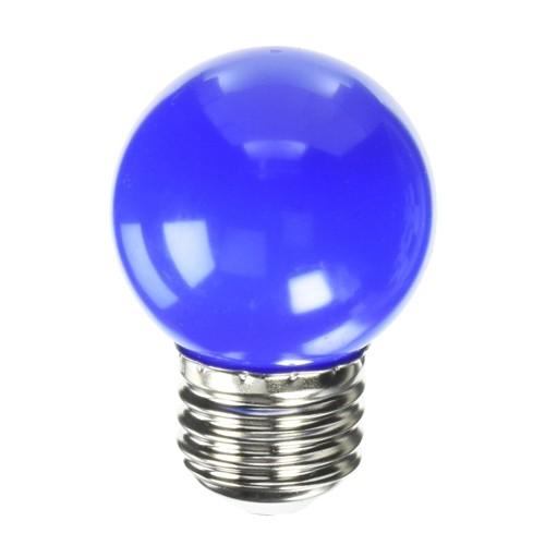 Bulbrite 770151 - 1W - G14 Bulb Type - Specialty Colors - E26 Base - 120V - Blue - 10 Packs