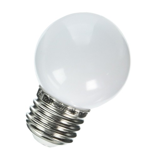 Bulbrite 770155 - 1W - G14 Bulb Type - Specialty Colors - E26 Base - 25 Lumens - 120V - 6400K Daylight - White - 10 Packs