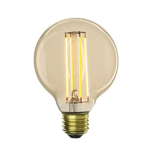 Bulbrite 776600 - 5W - G25 Bulb Type - Filaments - Medium E26 Base - 450 Lumens - 2200K Amber Light - Dimmable - 120V - 10 Packs