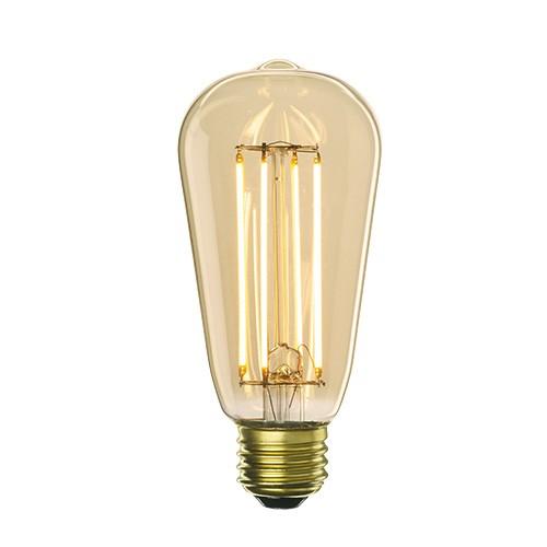 Bulbrite 776601 - 5W - ST18 Bulb Type - Filaments - Medium E26 Base - 450 Lumens - 2200K Amber Light - Dimmable - 120V - 10 Packs