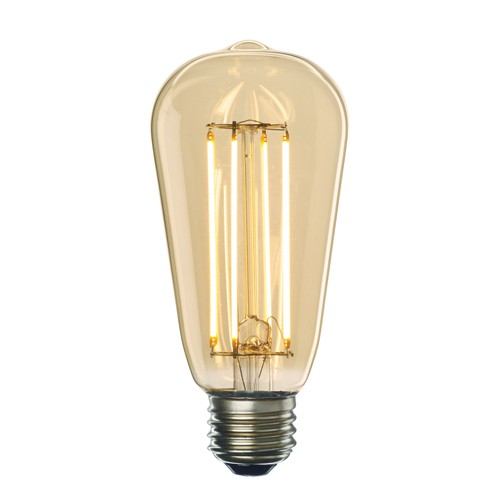 Bulbrite 776609 - 7W - ST18 Bulb Type - Filaments - Medium E26 Base - 650 Lumens - 2200K Amber Light - Dimmable - 120V - 10 Packs