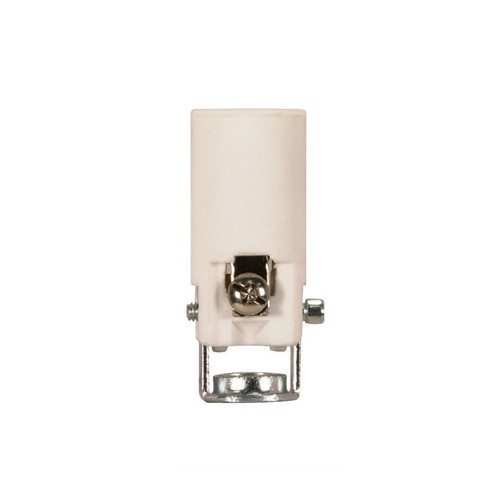 Satco 80-1090 - Porcelain Candelabra Socket with Paper Liner - 75 Watts - 125 Volts - With Set Screw