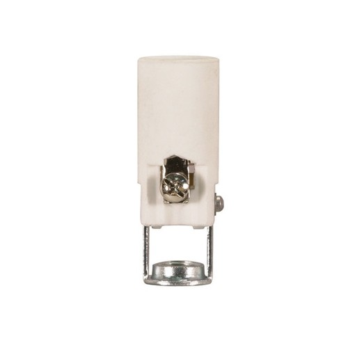 Satco 80-1091 - Porcelain Candelabra Socket with Paper Liner - 75 Watts - 125 Volts - With Set Screw