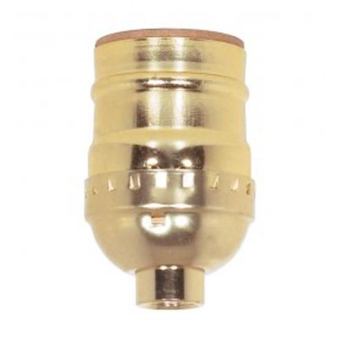 Satco 80-1100 - Short Keyless Socket - 660 Watts - 250 Volts - Nickel Finish