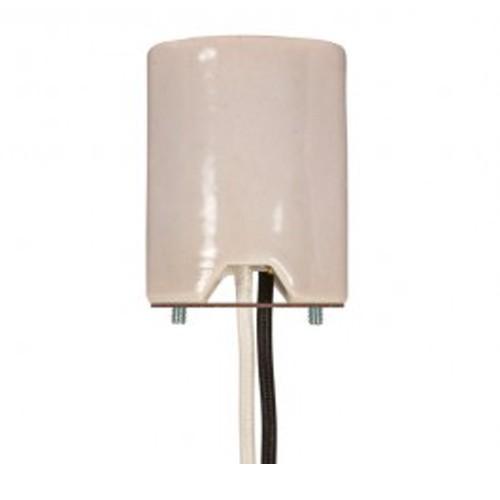 Satco 80-1103 - Keyless Porcelain Mogul Socket with 2 Wireways - 1500 Watts - 600 Volts - CSSNP Screw Shell
