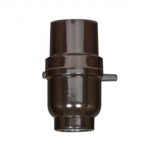 Satco 80-1110 - Push-Thru Socket with Metal Bushing - 660 Watts - 250 Volts - 1/8 IPS Cap - Less Set Screw