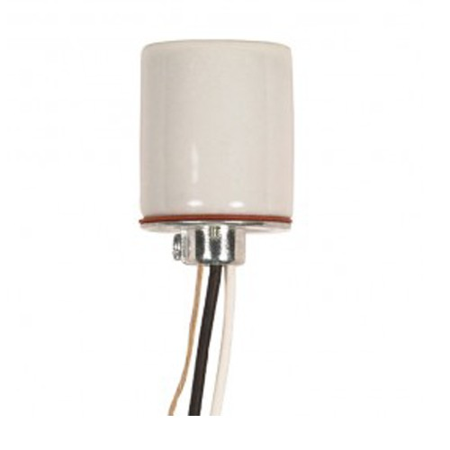 Satco 80-1113 - Keyless Porcelain Socket 1/4 IP Cap with Set Screw - 660 Watts - 250 Volts - CSSNP Screw Shell