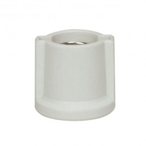 Satco 80-1120 - Keyless Medium Base Surface Mount Porcelain Socket W/2 Bushings - 660 Watts - 250 Volts - Screw Terminal