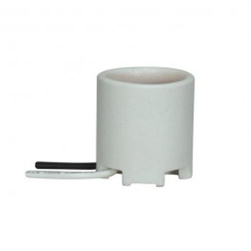 Satco 80-1155 - Keyless Porcelain Socket with Unglazed - 660 Watts - 250 Volts - Bronze Screw Shell