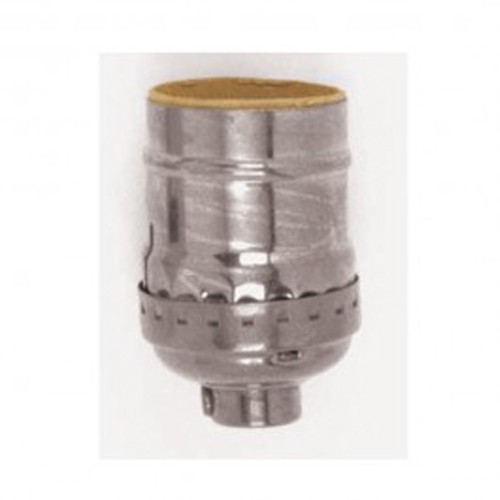 Satco 80-1178 - Short Keyless Socket - 660 Watts - 250 Volts - 1/8 IPS Cap - Polished Nickel Finish