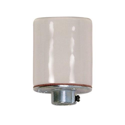 Satco 80-1214 - Keyless Porcelain Socket W/Metal 1/8 Ip Cap - 660 Watts - 250 Volts - CSSNP Screw Shell