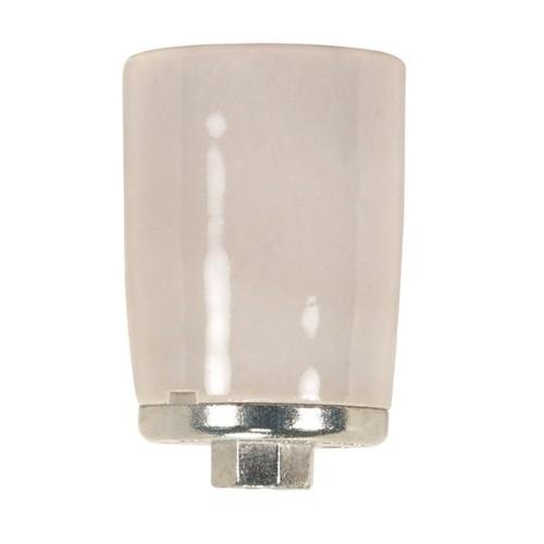 Satco 80-1307 - Keyless Porcelain Mogul Socket W/Metal 1/4 Ip Cap - 1500 Watts - 600 Volts - CSSNP Screw Shell