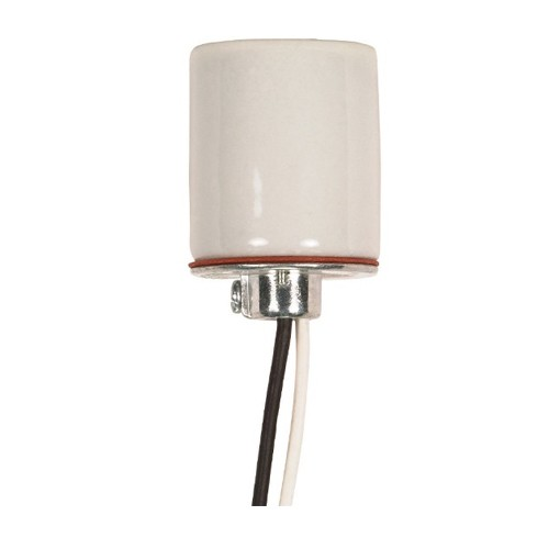 Satco 80-1313 - Keyless Porcelain Socket with Cap - 660 Watts - 250 Volts - CSSNP Screw Shell - 1/8 IPS Hickey